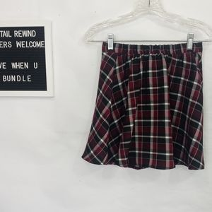 Gypsy Warrior Red Plaid School Girl Skirt. Sz XS